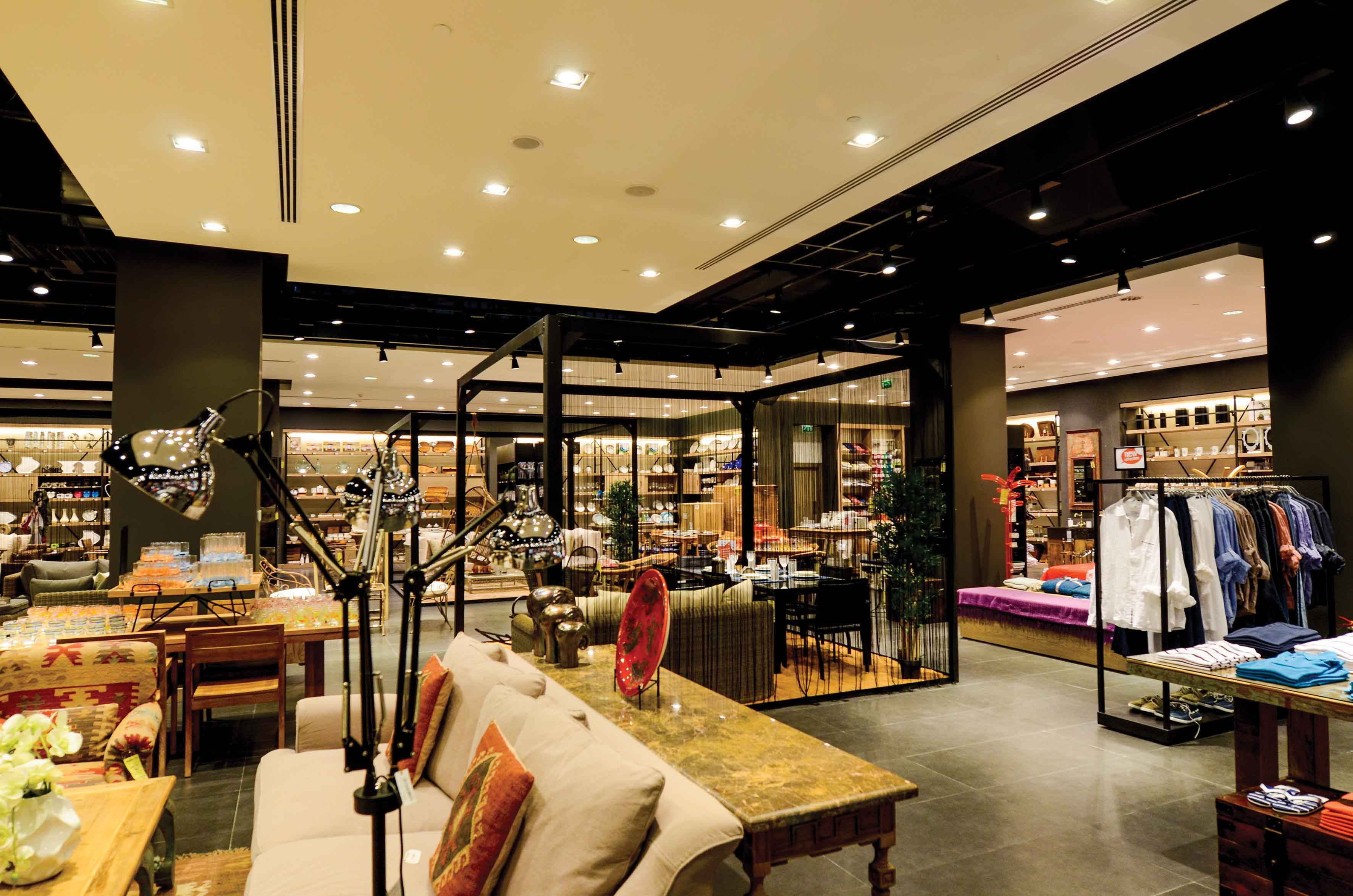 LED retail lighting ideas concept